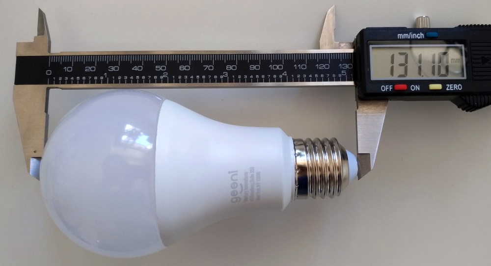 Geeni smart light measurements